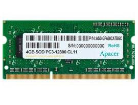 זכרון למחשב נייד Apacer DV.04G2K.HAM 4GB DDR3 1600MHz 1.35V