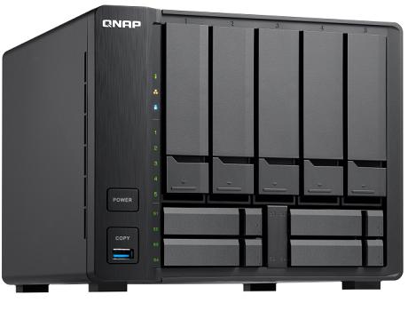 שרת אחסון NAS ל 9 כוננים, ביצועים גבוהים לעסקים קטנים ובינוניים QNAP TVS-951X-2G Intel Celeron Dual Core 3865U 1.8GHZ Dual Core 2GB RAM