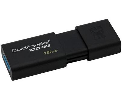 זכרון נייד פלאש קינגסטון Kingston DT100/16GB DataTraveler 100 USB3.1 Gen 1 (USB 3.0) performance