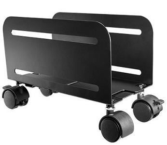 מעמד למחשב נייח עם גלגלים ממתכת משקל נשיאה עד 10 קילו מתכוונן Lumi CPB-4 Universal Mobile CPU Stand 119-209mm
