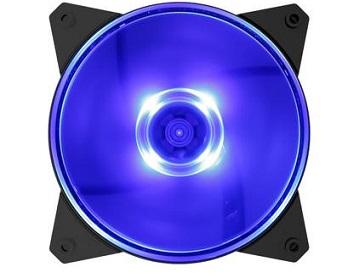 מאוורר שקט למארז כולל תאורת לד קולר מאסטר Cooler Master ML120L Blue LED 120mm