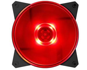 מאוורר שקט למארז כולל תאורת לד קולר מאסטר Cooler Master ML120L Red 120mm