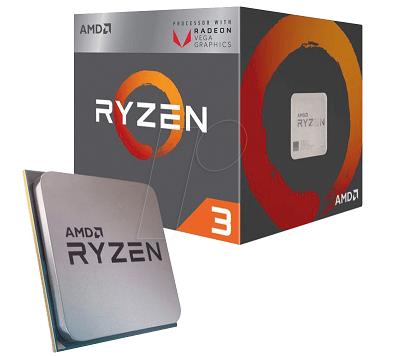 מעבד 4 ליבות כולל כרטיס גרפי AMD Ryzen 3 3200G YD3200C5FHBOX 4Cores  4Threads Turbo boost 3.6GHZ Up To 4.0GHz 6MB Radeon Vega 8 Processor Graphics AM4