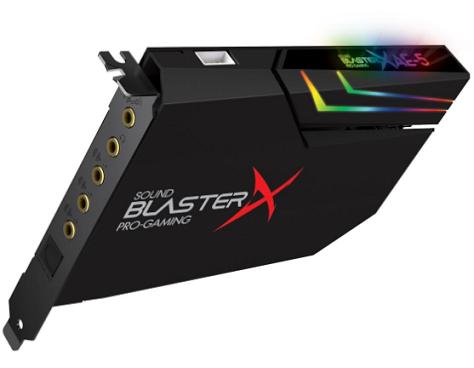 כרטיס קול פנימי לגיימרים קריאטיב 7.1 ערוצים כולל יציאה אופטית CREATIVE Sound Blaster Aurora AE-5 7.1 PCI Express