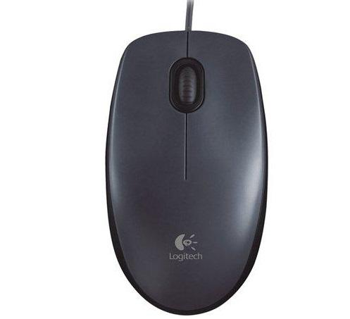 עכבר חוטי לוג'יטק שחור Logitech M100