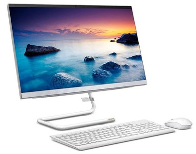 מערכת מחשב לנובו אול אין וואן לבן Lenovo Idea Pad A340-24IWL F0E8006GIV 23.8'' Full HD Intel Quad Core i3-8145U 3.9Ghz 8GB RAM DDR4 SSD 256GB M.2 NVMe Win 10 Home White
