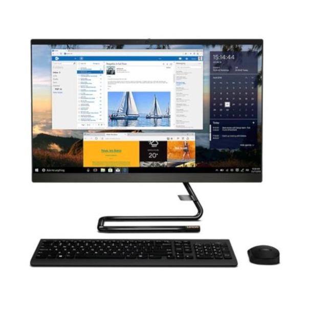 מערכת מחשב לנובו אול אין וואן שחור Lenovo Idea Pad A340-24ICB - F0E600CGIV 23.8'' Full HD Intel Six Core i5-9400T 3.4Ghz 8GB RAM DDR4 SSD 256GB M.2 NVMe +1TB HDD AMD Radeon 530 2GB GDDR5 Win 10 Home Black