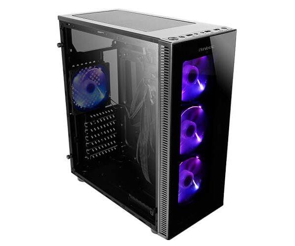 מחשב נייח ללא כרטיס גרפי מעבד אינטל דור 9 Gigabyte GA-B360M H Antec NX210 RGB Gaming Case Intel Quad Core i3-9100F 4.2GHz SSD 240GB 16GB DDR4 HDMI