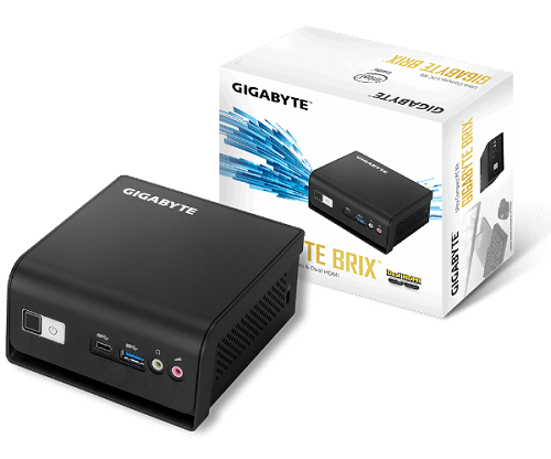 מחשב ג'יגהבייט קטן וסטרימר Gigabyte BRIX GB-BLPD-5005R Intel Pentium Silver J5005 2.8GHz 8GB RAM 240GB SSD Free Dos