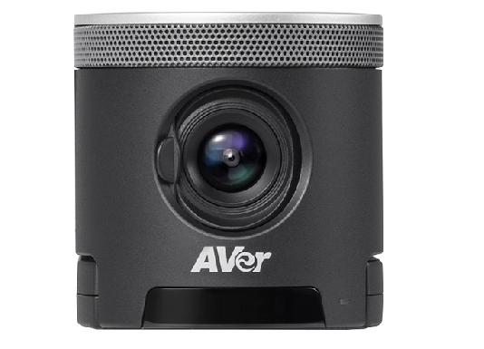 מצלמה מקצועית לשיחות ועידה לחדרי ישיבות זווית צפייה 120מעלות כולל מיקרופון מובנה AVER CAM340+ 4K UHD USB3.1 Zoom Opti X4 Easy Plug-and-Play Camera