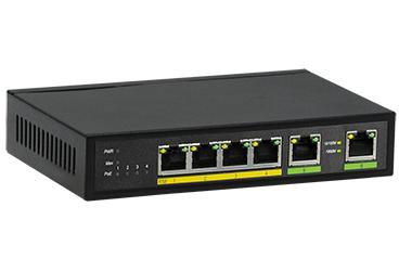 מתג שולחני ג'יגהביט פרוויז'ן Provision PoES-0472GC+2G 4+2-Port Giga 10/100/1000Mbps PoE 4+2 Switch