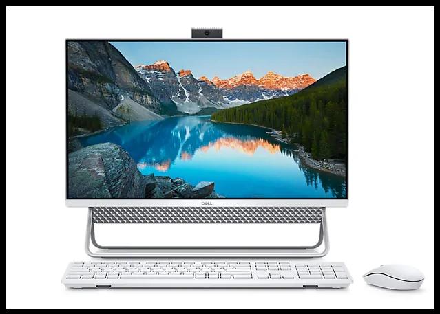 מערכת מחשב דל אול אין וואן מסך מגע לבן Dell Inspiron AIO 5400 IN-RD33-12330 23.8 Inch Full HD Intel Core I7-1165G7 4.70GHz 16GB 256GB SSD + 1TB HDD NVIDIA GeForce MX330 2GB Windows 10 Pro White