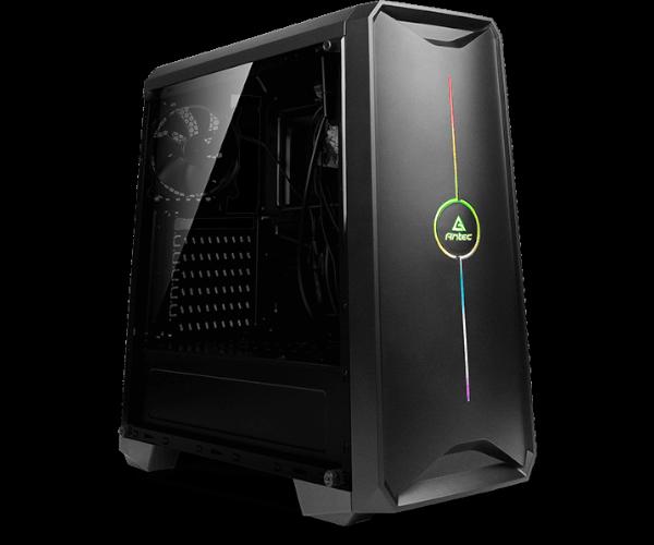 מחשב למסחר בבורסה לעבודה עד 8 צגים מעבד אינטל דור 10 Gigabyte B460M D3H Antec NX200 Gaming Case Intel Six Core i5-10400 4.3GHz SSD 500GB NVME 16GB DDR4 N-Vidia Geforce Gigabyte GV-N1656OC-4GL GTX1650 4GB HDMI