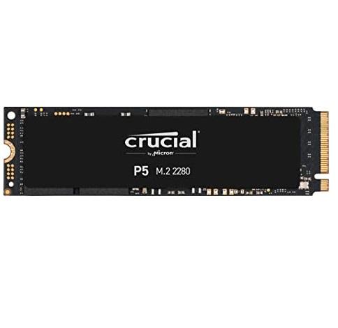 דיסק קשיח פלאש מהיר Crucial P5 CT250P5SSD8 SSD 250GB PCI-EXPRESS Gen 3.0 X4 M.2 NVME 1.3 read up to 3400MB/s write up to 3000MB/s