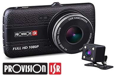 מצלמת דרך לרכב מצלמת וידאו דו כיוונית לרכב ביחידה אחת  ''4 Proviosion PR-2100CDV 1080P Full HD