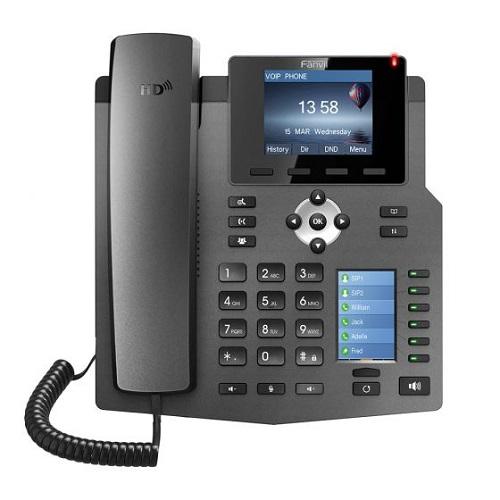 טלפון חוטי איי פי לעסקים פאנוויל FANVIL X4 IP Phone