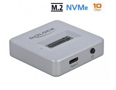 תחנת עגינה חיצונית לדיסק פלאש M.2 NVMe ל- USB 3.2 למחשב Delock D64000