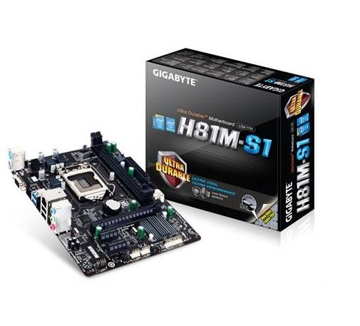 לוח אם ג'יגהייט עודפי מלאי Gigabyte GA-H81M-S1 Socket 1150 Intel H81 DDR3 VGA