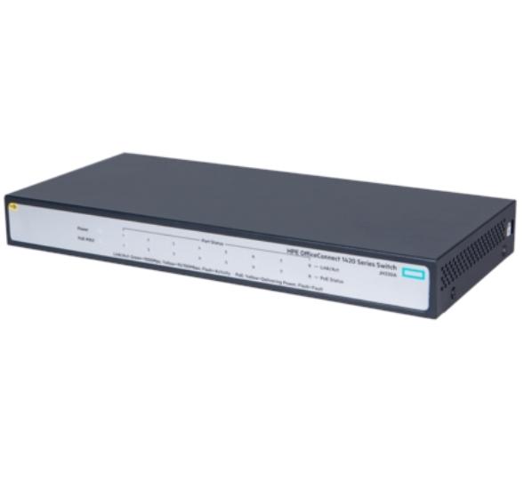 מתג 8 ערוצים HP JH330A 1420 8G PoE+ (64W) Switch with 8x 1G ports