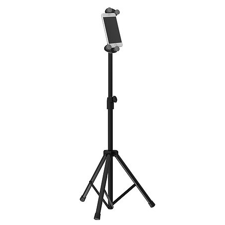 מעמד סטנד רצפתי חצובה לסמארטפון או לטאבלט מתכוון אנכית כולל כיוון גובה Barkan T71FS Up T0 4-12Inch Screen Rotation 360° Height 70Cm-120Cm