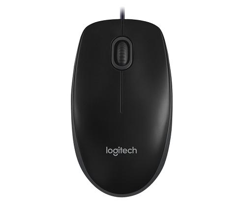 עכבר חוטי לוג'יטק שחור Logitech Mouse B100 USB Optical Mouse Black