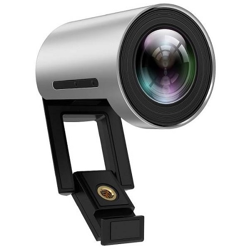 מצלמה מקצועית לשיחות ועידה לחדרי ישיבות זווית צפייה 120 מעלות כולל טכנלוגיה לזיהוי פנים כולל כבל 10 מטר USB3.0 אקטיבי וספק כח חובה Yealink UVC30 4K UHD USB Zoom Digital X3 Desktop Confrence Camera