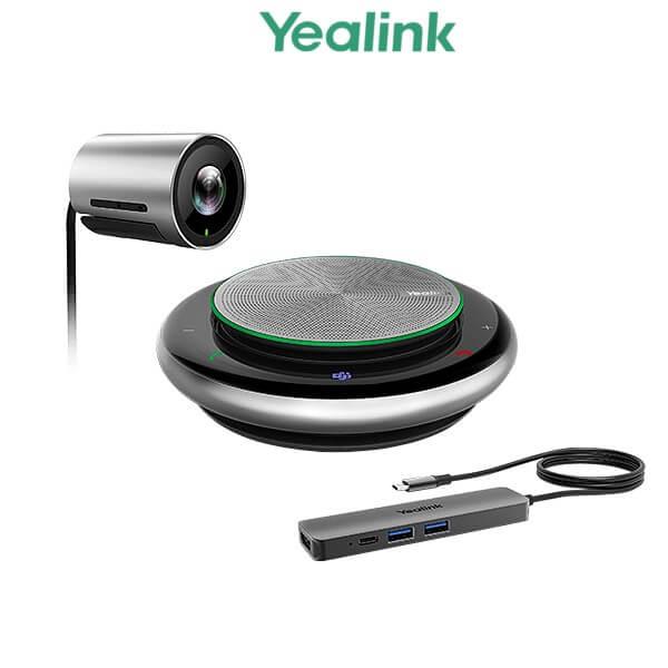 מצלמה מקצועית לשיחות ועידה לחדרי ישיבות מיקרופון מוגבר זווית צפייה 120 מעלות כולל טכנלוגיה לזיהוי פנים Yealink UVC30-CP900-BYOD Meeting Kit 4K UHD USB Zoom Digital X3 120° Desktop Confrence Camera HDMI + USB 3.0